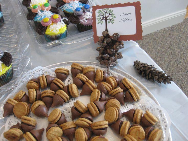 K S Woodland Theme Baby Shower Acorn Cookies My