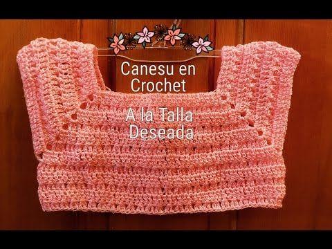 Canesu en Crochet para Vestiditos,Blusas y Chalecos al Tamaño Deseado para Niñas Paso a Paso - YouTube