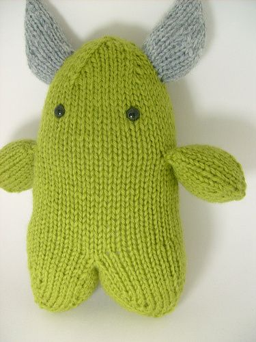 The Adorkable Monster knitted Free Pattern