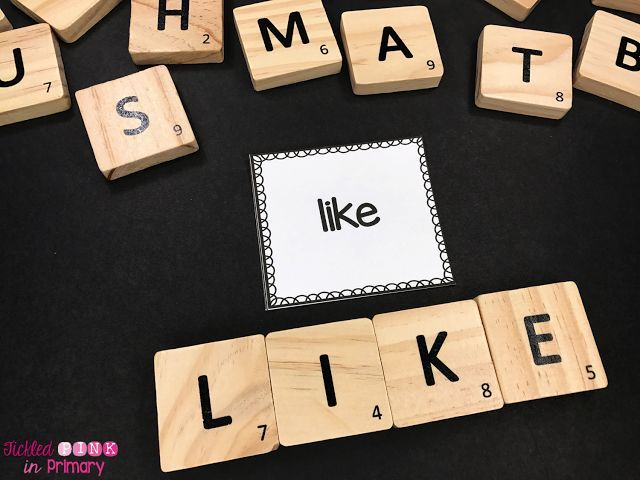 10 Ways to Practice Sight Words - Scrabble spelling helps students spell words, but also add together the numbers to work on math too!