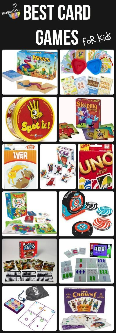 Great list of favorite card games for kids of all ages.