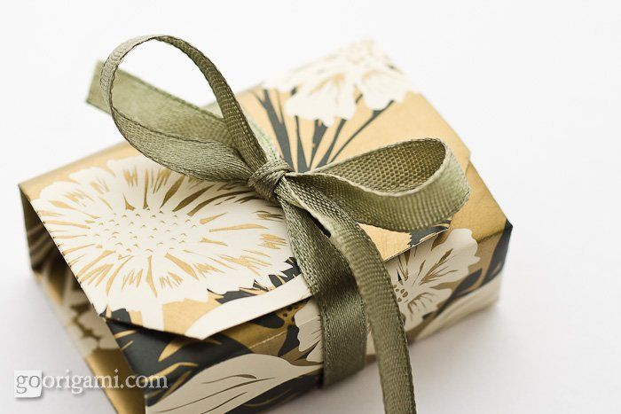 Fold a box out of one sheet of scrapbooking paper!