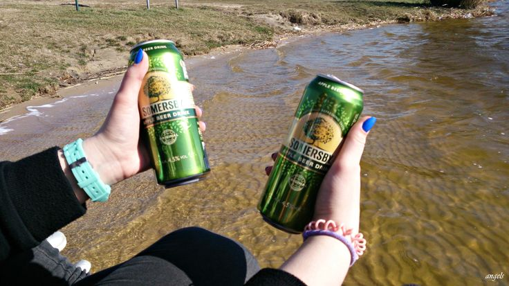 Let's start Summer Holiday! #holiday #somersby #beer #lake #friends