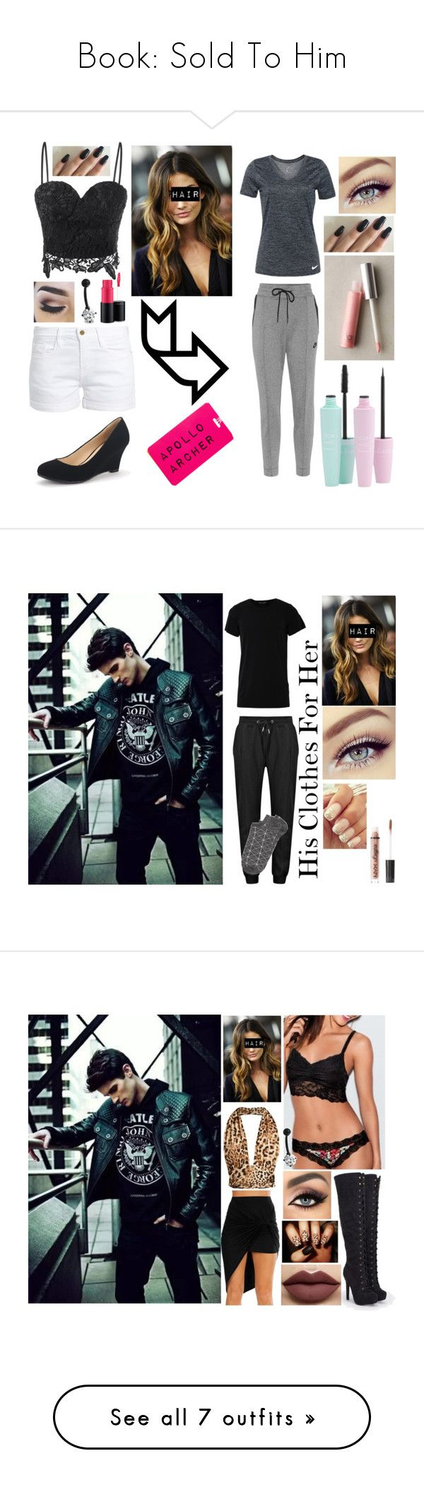 """""""Book: Sold To Him"""" by kaylanoelbryan on Polyvore featuring Frame, MAC Cosmetics, Bling Jewelry, NIKE, FACE Stockholm, Numero00, Witchery, Charlotte Russe, Victoria's Secret and JustFab"""