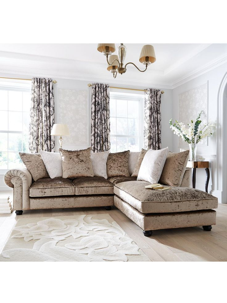 Laurence Llewelyn-Bowen Scarpa Right-Hand Fabric Corner Chaise Sofa | littlewoods.com