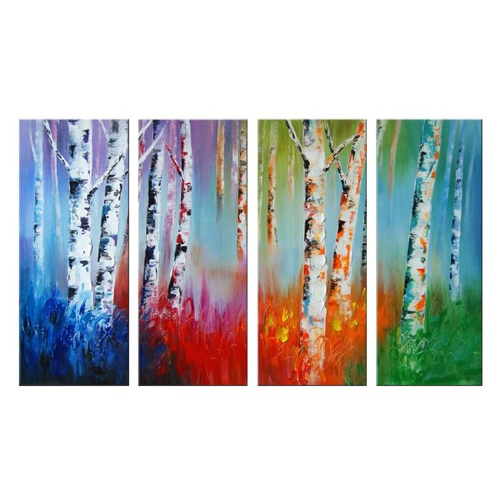 Colors of the Jungle Landscape Canvas Wall Art Oil Painting