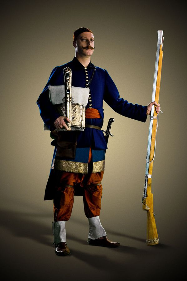 Reenactment of Ottoman janissary...No information; just a picture.