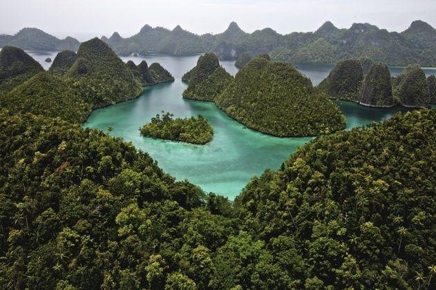Archipel des Raja-Ampat (les quatre rois), province de Papouasie Occidentale, Indonésie (0°41' S - 130°25' E). Indonesia.