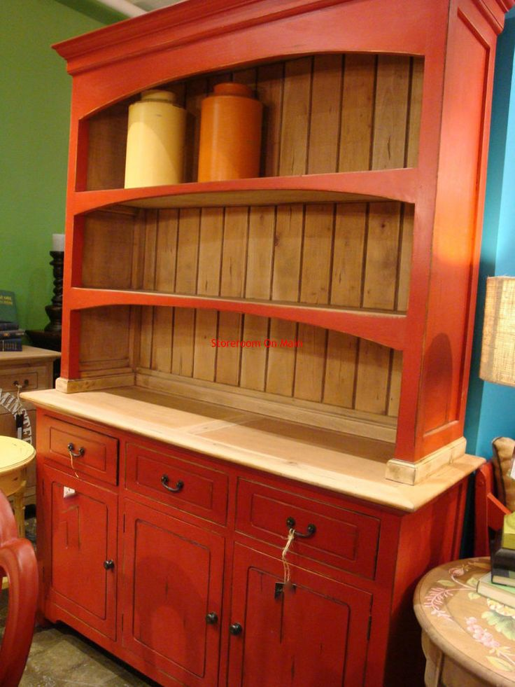 Best 25 Red Hutch Ideas On Pinterest Red Buffet Red