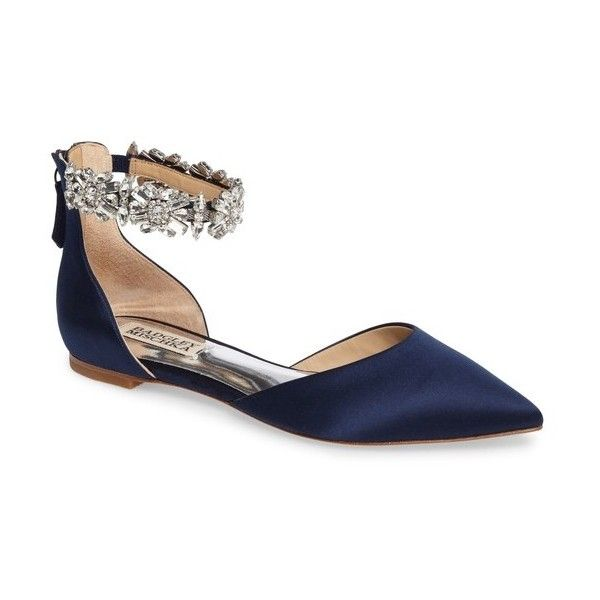 50eb7aae5d44 Women s Badgley Mischka Morgen Ankle Strap Flat (2 655 ZAR) ❤ liked on  Polyvore