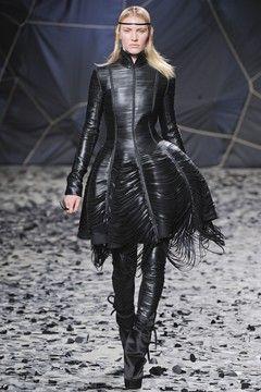 AW 2012-13 RTW - Leather corset bodice with tattered mini-crini reminds me of 90s westwood