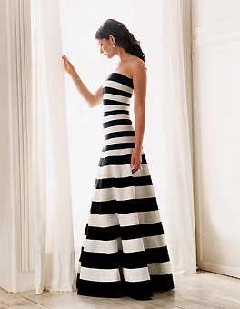 stripes: Oscar De La Renta, Fashion, Style, Black And White, Dresses, Oscardelarenta, Black White, Wedding Dress, Stripes