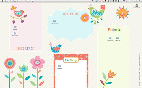 FREE download Lily-Ashbury Desktop Wallpaper: organize your desktop!