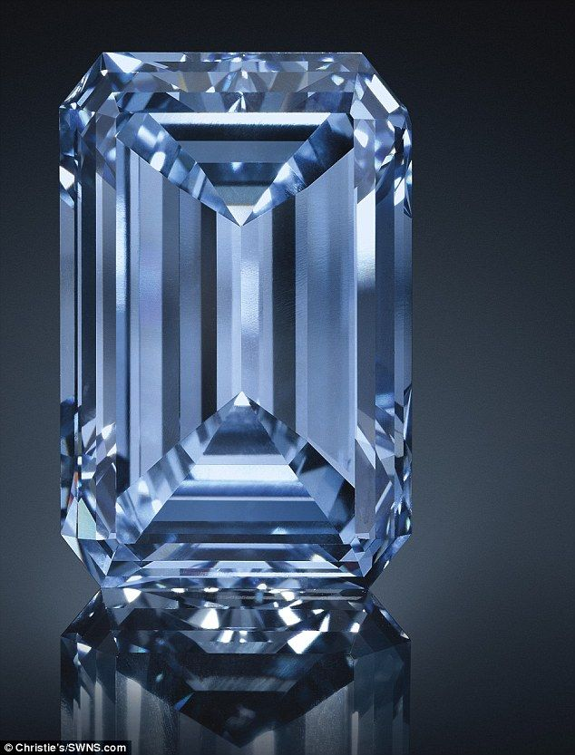 The Oppenheimer Blue is expected to beat the current record for most valuable gemstone sold at auction currently held by The Blue Moon diamond which sold for £32 million at Sotheby's last year