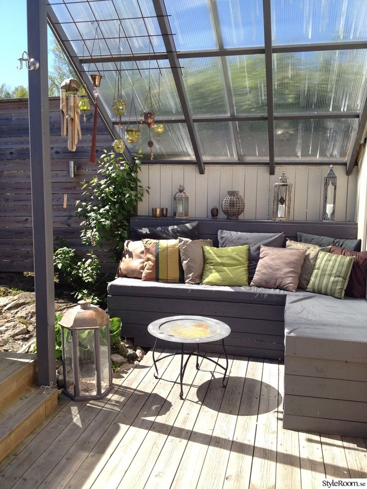 Build a cosy family space in your garden. Use opal plastic roof sheets to enjoy…