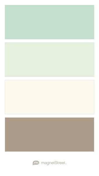 Celadon, Tea Green, Ivory, and Ashwood Wedding Color Palette | Wedding Color Trends | MagnetStreet Weddings
