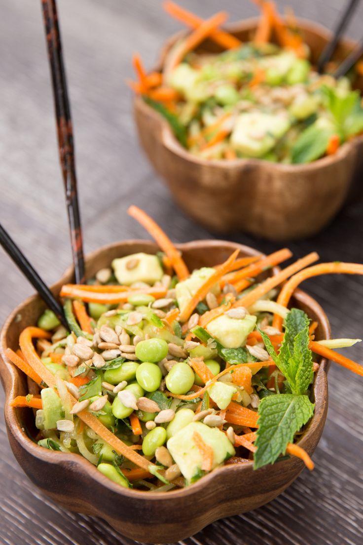 Cucumber & Carrot Noodle Thai Salad