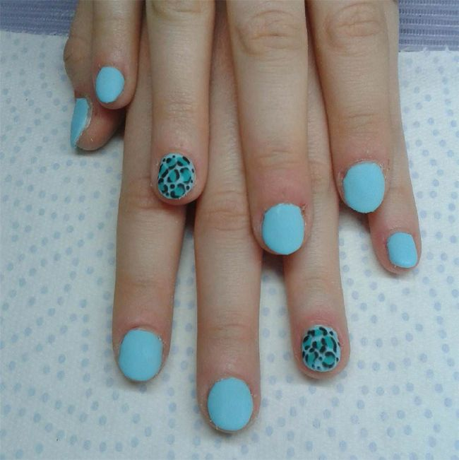 animal-printed-round-nail-designs-for-little-girls - Oltre 25 Fantastiche Idee Su Round Nail Designs Su Pinterest