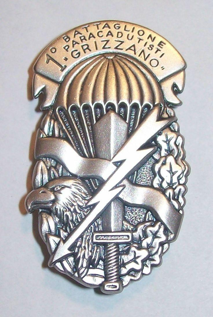 Spilla Battaglione Grizzano - PARACADUTISTI - Folgore in metallo da DROP