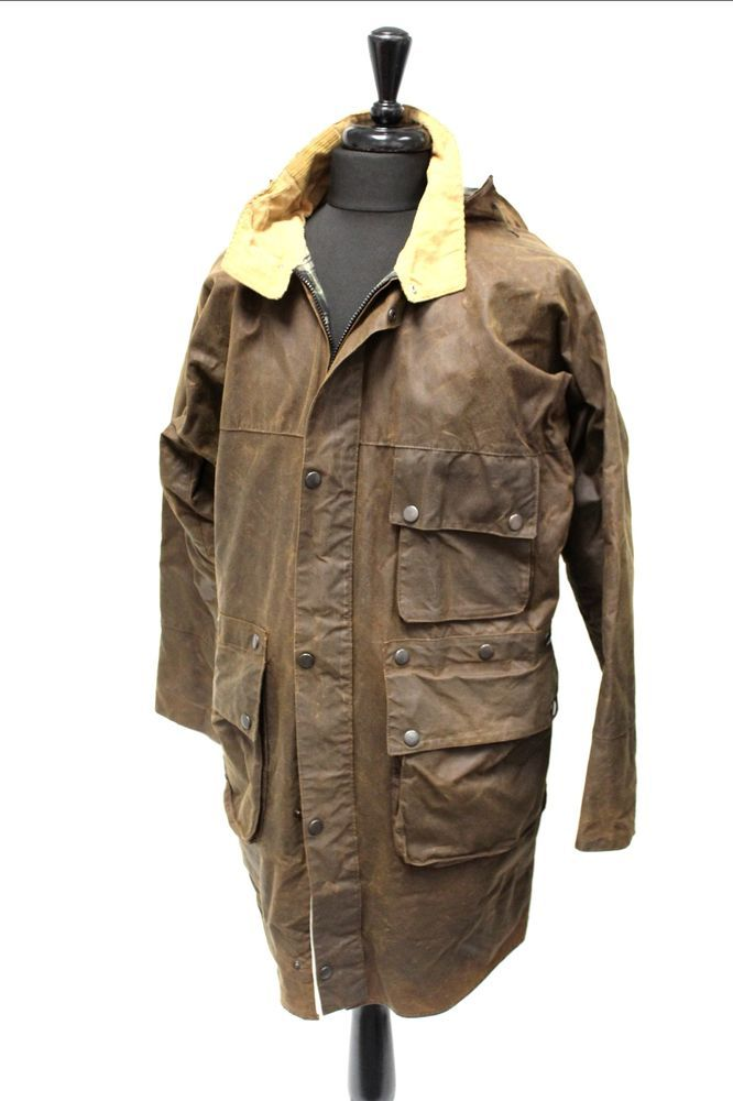 Vintage MAXIPROOF Dark Brown Long Mens Wax Jacket Coat L - S50   Clothes, Shoes & Accessories, Men's Clothing, Coats & Jackets   eBay!