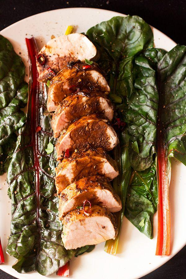 Balsamic Roasted Pork Fillet - www.aninas-recipes.com