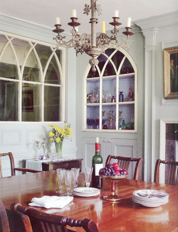 A Dining Room In An Irish Home