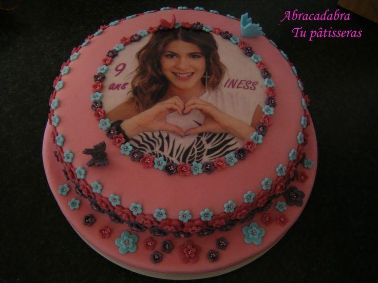 Gâteau d'anniversaire Violetta