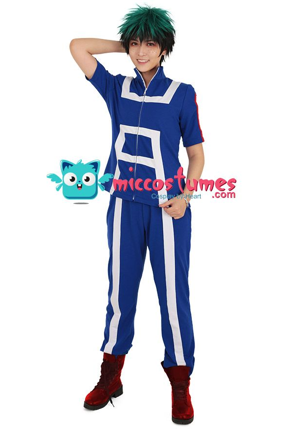 My Hero Academia Midoriya Bakugou Todoroki Gym Suit Sportswear Cosplay Costume