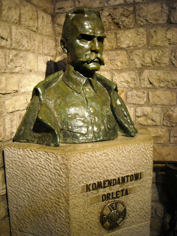 Statue of Józef Piłsudski in Cracow, Poland