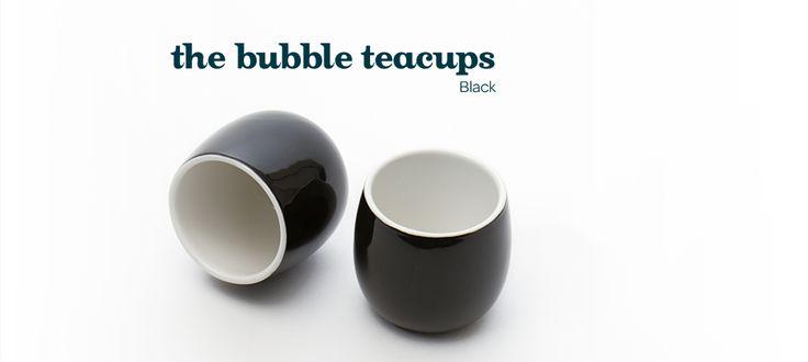 Black bubble teacups by DavidsTea