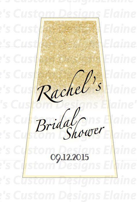 gold sparkle glitter theme hand sanitizer favor label pinterest sparkle shops and gold. Black Bedroom Furniture Sets. Home Design Ideas
