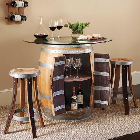 Pleasing Wine Barrel Pub Table 2 Stave Pub Stools Set In 2019 Download Free Architecture Designs Scobabritishbridgeorg