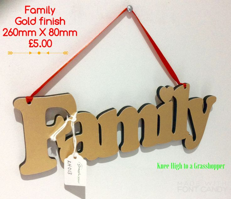 Family hanging decoration. Available with sticky pads instead. Let me know if you would like to order one x