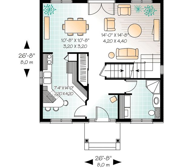 "plan 21004dr: compact two-story house plan | 1"", floors and http"