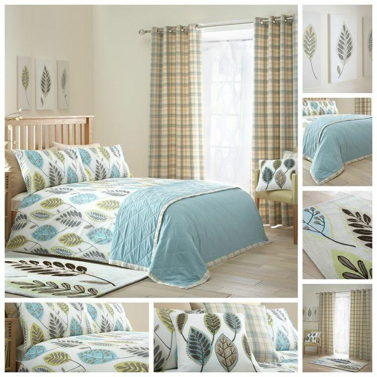 Woodford Fawcett Gingko Duvet Quilt Cover Bedding Set Tartan Curtains Bedroom Pinterest
