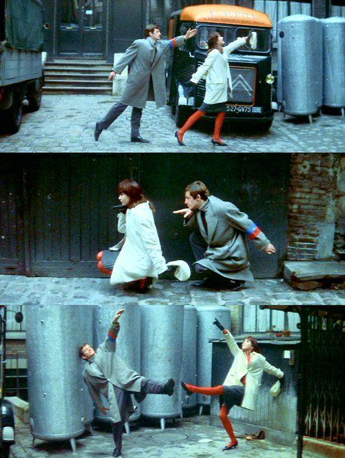 Anna Karina & Jean-Paul Belmondo in A Woman is a Woman (1961, dir. Jean-Luc Godard)