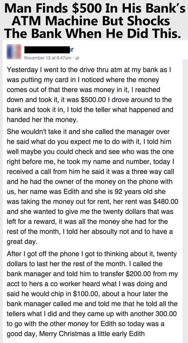 I applaud the kindness but i judge the society that allows that situation to happen in the first place
