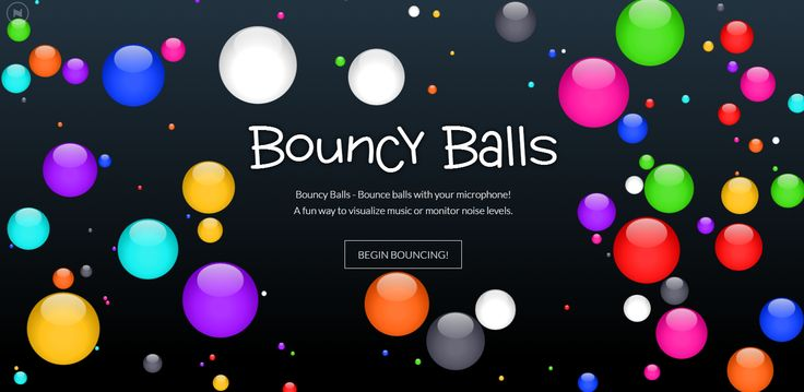 Bouncy Balls  is a free online noise meter that shows students the volume of the noise in your classroom. Bouncy Balls does this by displa...