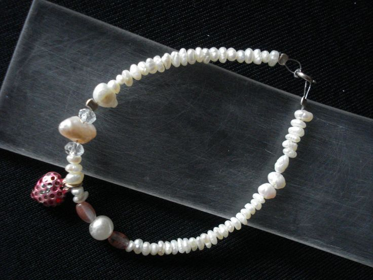 handmade bracelet of silver 925 and pearls