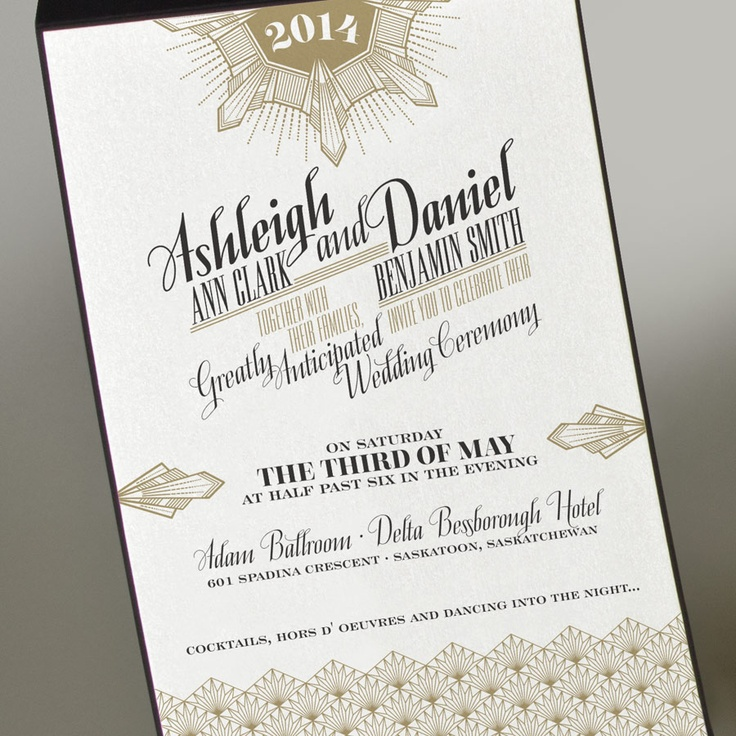 Ashleigh   Daniel   Envelopments Wedding Invitation121 best Great Gatsby Inspiration images on Pinterest   Art deco  . Envelopments Wedding Invitations. Home Design Ideas