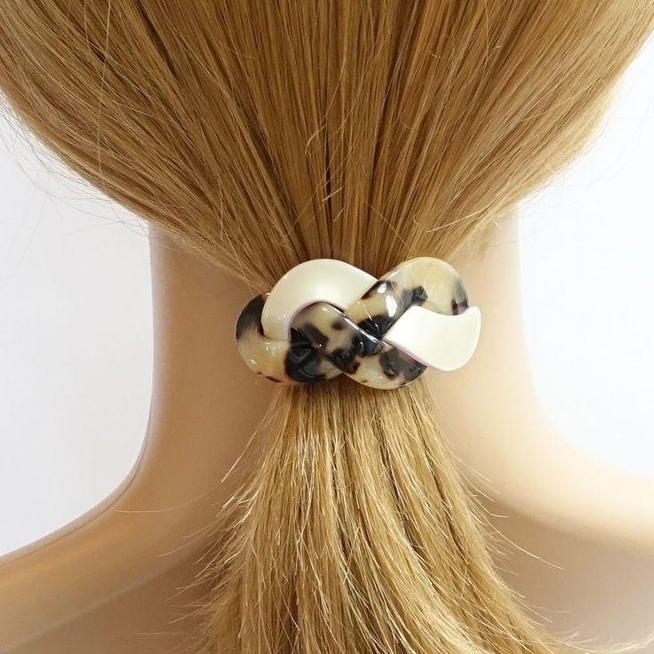 Cellulose Acetate Braid Twist Hair Elastic Ponytail Holder Women Hair Accessory  #VeryShine #PonytailHolders #Casual
