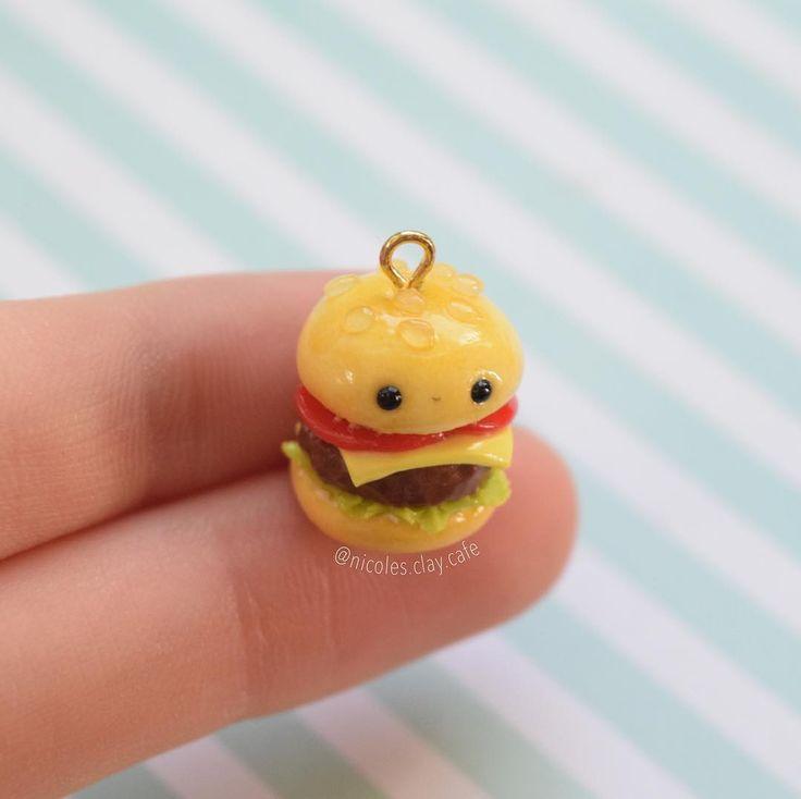 #kawaii #charms #polymer #clay #hamburger #charm