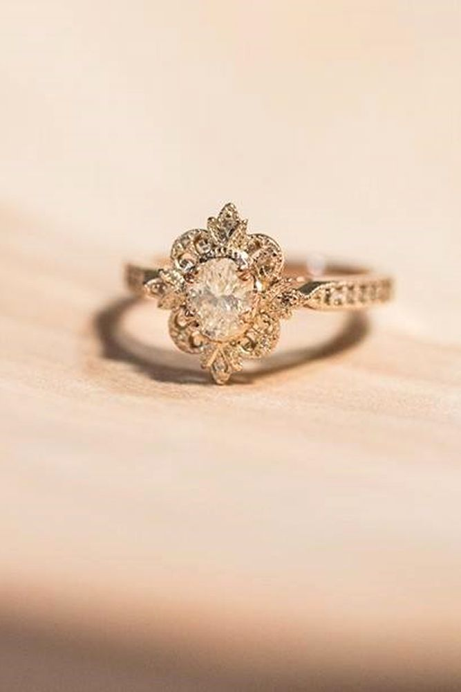 24 outstanding floral engagement rings
