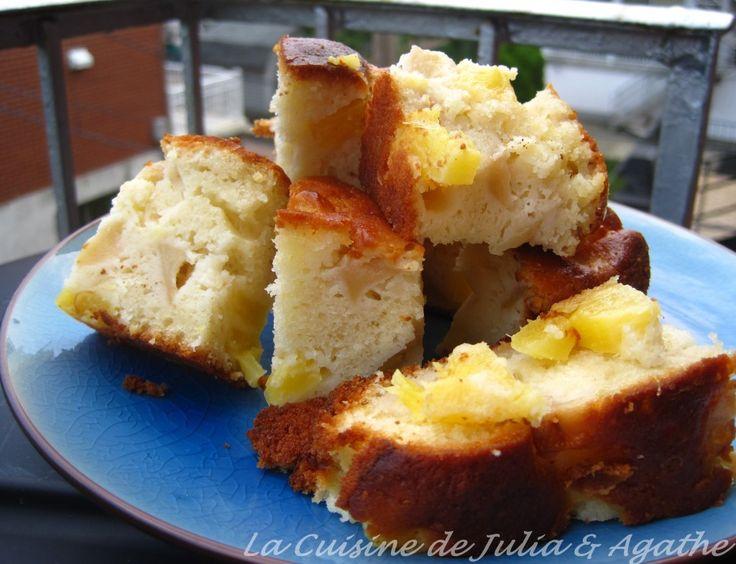 Gateau yaourt vanille pommes ananas 1w