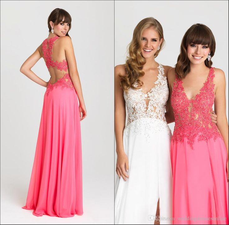 Show your best to all people even in the evening and then get  simple sexy v-neck long evening party dresses 2016 chiffon with applique beaded sleeveless floor length a-line hollow prom dress gowns hot in weddingdressesonline and choose wholesale ladies dresses online,online dress shop and online women clothing on DHgate.com.