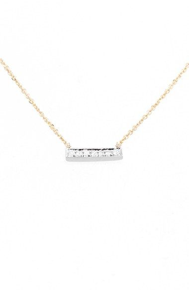 18 inch Dana Rebecca Designs 'Sylvie Rose' Diamond Bar Pendant Necklace available at #Nordstrom