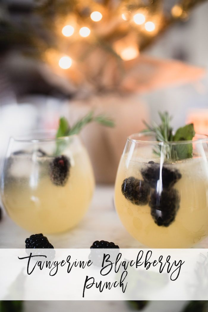 A delicious cocktail that includes Tropicana's Tangerine Lemonade that is sure to wow your holiday guests this season! #MixedwithTrop #sponsor
