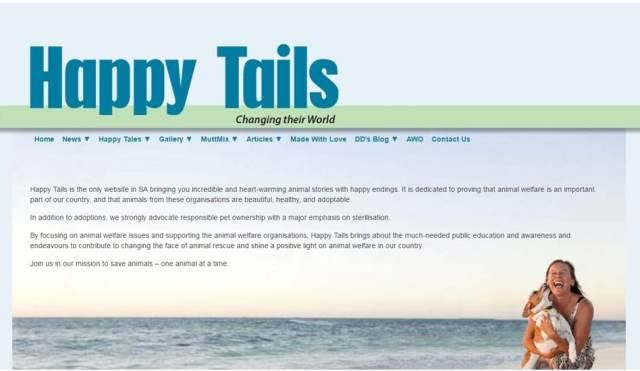 THANKS, Happy Tails for featuring us on your website! <3  Please support the website and Facebook - they are doing so much to help animals and they need your support to continue.
