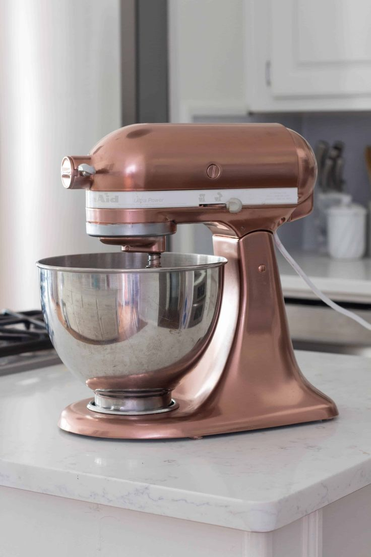 Copper spray painted kitchenaid mixer in 2020 copper