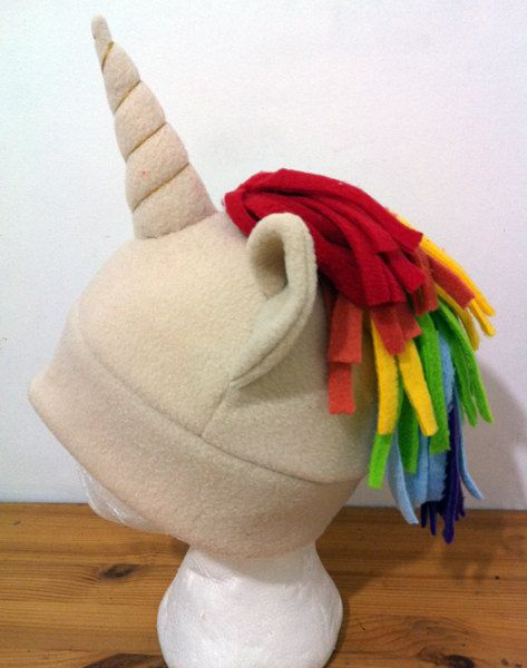Rainbow Unicorn Hat by EinavIzack on Etsy, $36.00